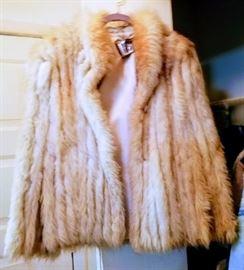 Fabulous Saga Fox Fur short coat ~ made in Finland.