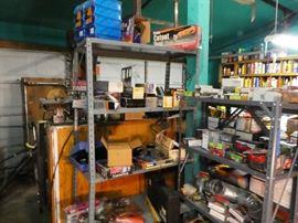 misc carpentry tools still in box  many air nail guns