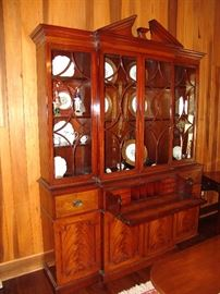 Kittenger mahogany secretary showing secretarial compartments