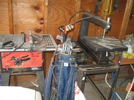 Table saw and scroll saw
