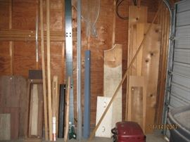 Lots of lumber and metal edging