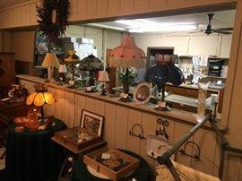 Numerous lamps