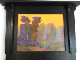 Original James Osorio painting in handmade frame