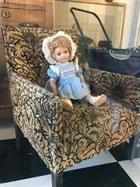 Children's chair and doll