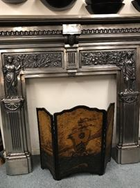 Antique iron mantel in excellent condition