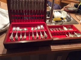 """Service for 12 Wallace sterling silver """"Barouque"""" pattern"""