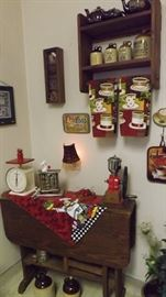 lots country kitchen type items...plus corning ware etc