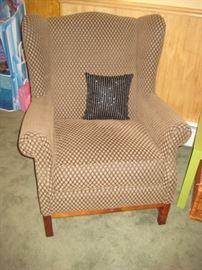 CUSTOM COVERED WING CHAIR SEATING