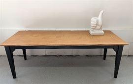 Contemporary coffee table, circa 1970