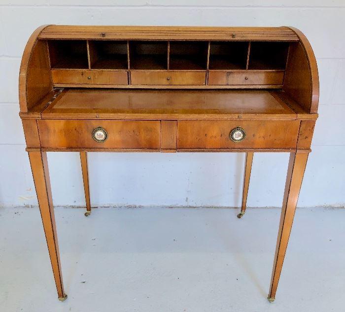 Small, antique roll-top desk