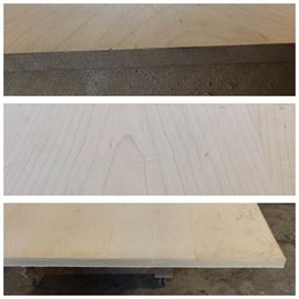 "4'x12' Cherry  veneer over 4"" thick MDF solid slab"