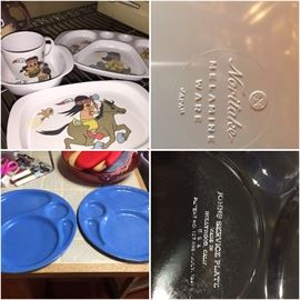 Noritake melamine and 1940s Hollywood studio cafeteria trays