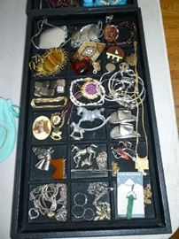 COSTUME JEWELRY (LITTLE BIT OF STERLING)
