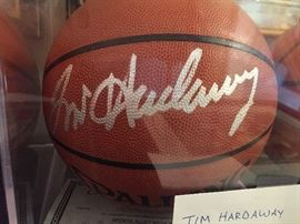 TIM HARDAWAY SIGNED BALL ** BUY IT NOW **$