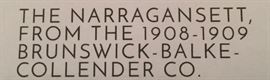 1890's Billiards Table, 50 x 100 Pocket. Narrangsett Model, Made from Quarter Sawed Golden Oak Wood w/ Vermont Slate Rails, American Walnut Pockets, Black Twin Cut w/Shields and Dark Spruce Cloth