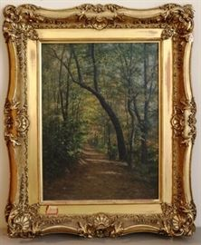 Great antique oil on canvas