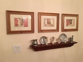 Pewter Dishes. Pestle and Mortar. Pitcher. Framed Prints. Willow Tree Angels. Family Heritage Estate Sales, LLC. New Jersey Estate Sales/ Pennsylvania Estate Sales.