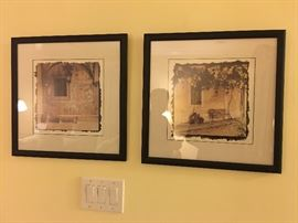 Framed and Matted Photography Art of Italy and Greece. Family Heritage Estate Sales, LLC. New Jersey Estate Sales/ Pennsylvania Estate Sales.