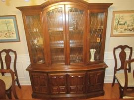 Ethan Allen china cabinet with light