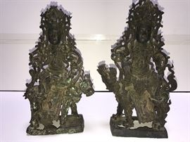 Ming Dynasty Bronze pair