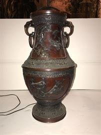 Great bronze lamp