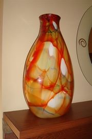 Blown glass vase,
