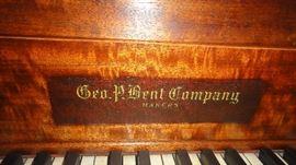 George P. Bent Company Piano,  Baby Grand