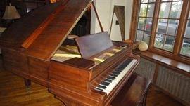 Baby Grand Piano, George P. Bent Company Piano,  Baby Grand