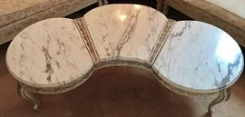 Top View of Coffee Table (Three Sections of Marble)