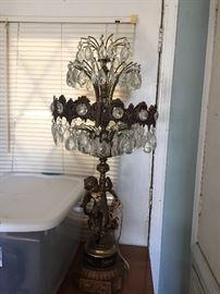 Large Crystal Lamp