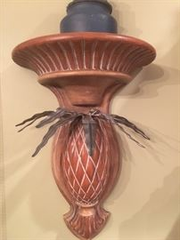 Pair of Pineapple Sconces