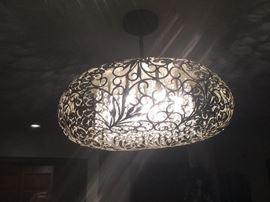 Designer Chandelier with hanging Crystals