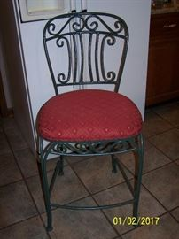 4 of these Cast iron frames Bar Stools  - very strong and sturdy