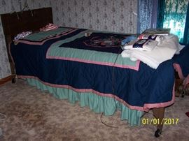Hospital Bed,  linens