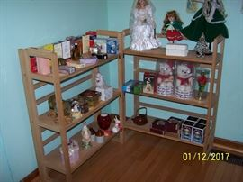 NIB Perfumes, Coasters, Plush Musical Bears, several  Dolls, Snow Globes, and  much more