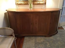 Large French style sideboard, opens to drawers and shelves on side cabinet