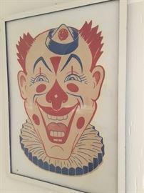 """Large Circus clown 36"""" x 48"""""""