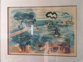 R. Dufy signed and numbered lithograph.