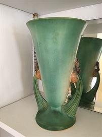 Roseville Green Pinecone vase.