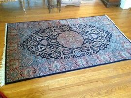 "Pakastani Kashan Rug - 100 % Wool - 7'3"" x 4'6"" $ 1,200.00 (will NOT reduce during sale) reserve established - make offers"