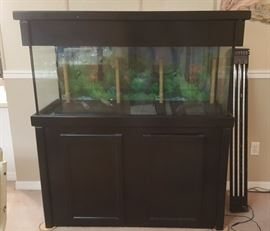150 gallon fish tank with lights and accessories
