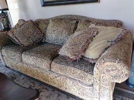 lazy boy paisley sofa