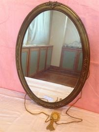 "1920's Oval Gilt Mirror 29"" x 20""  90.00"
