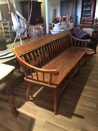 Antique parsons long bench