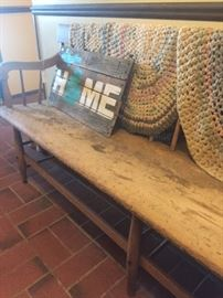 Antique parsons bench