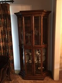 Martinsville lighted curio cabinet