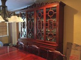 Matching china cabinet, very ornate .