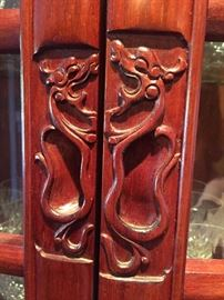 Carved pulls on doors