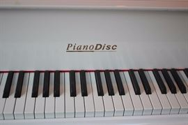 White Lacquer Young Chan Disc Piano with Discs