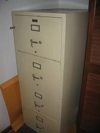 Lockable Fire resistant storage cabinet.